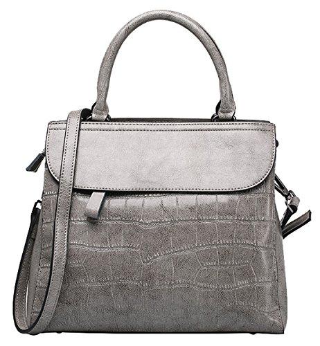 SAIERLONG Neues Damen Schwarz Rindleder-Echtes Leder Damen Handtaschen Schultertaschen Lila Rose