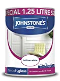 Johnstone's 307549 1.25 Litre Quick Drying Gloss Paint - Brilliant White