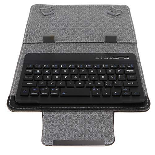 custodia con tastiera tablet 7 pollici KESOTO Fondina per Tablet - con Fondina per Tastiera Bluetooth Touchpad con Tastiera da 7/8 di Pollice per Tablet Universale da 7-10 Pollici