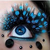 Sannysis 1 pare pestañas postizas extensión maquillaje, pluma de colores