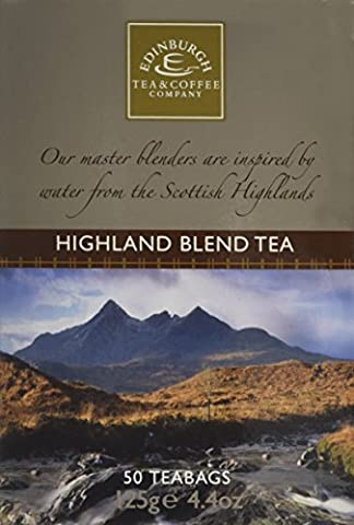 Edinburgh Tea and Coffee Company Highland Blend 50 Teabags 125 g (Pack of 4)