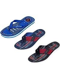 IndiWeaves Boy Flip Flop House Slipper And Sandal-Grey/Black/Beige/Blue- Pack Of 3 Pairs