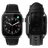 MroTech Lederarmband Ersatz für iWatch Armband 42mm 44mm Watch Band echt Leder Uhrenarmband mit...
