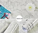 PVC Wasserdichte Aufkleber Selbstklebende Marmor Tapete Glatt 23.6inX9.8ft (Color : 5)