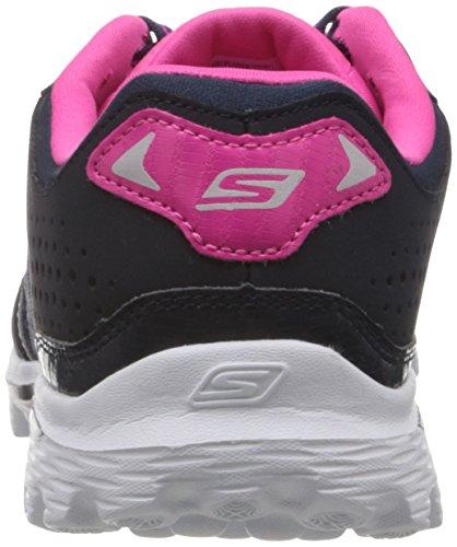 Gli Skechers Vanno A Passeggio Con 2 Flash Da Donna Scarpe Da Corsa Blu / Rosa Caldo