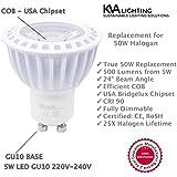 kVA iluminación GU10LED bombillas–(6unidades) regulable 2700K WARM WHITE