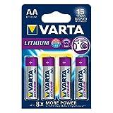 Varta Lithium AA Mignon LR06 Batterien (geeignet für Digitalkamera Spielzeug GPS Geräte Sport- und Outdoor-Einsätze) 4er Pack