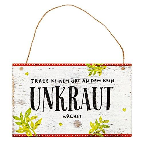 Preisvergleich Produktbild Spiegelburg 13686 Gartenschild 'Traue keinem Ort ...' I love my Garden