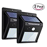 Fanme 20 LED Solar Power Security Motion Sensor Light (2 Pack) ,3-in-1 Upgraded Version, Wireless Waterproof Light for Garden, Yard, Patio, Deck, Driveway, Outdoor, Stairs etc.