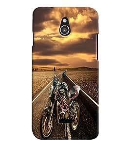 PrintVisa Sports Bike 3D Hard Polycarbonate Designer Back Case Cover for Infocus M2