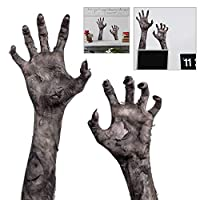 Sedensy Halloween Decorations Horror Handprint Stickers,Innovative Ghost Hand Wall Sticker for Window Decals Decor,Haunted Houses,Halloween Party,Vampire Zombie Party Decorations Supplies