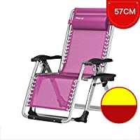 YY_C1 Cama Plegable Cama Individual Lunch Break Simple Silla de salón Plegable Lunch Camp Bed (Color : Purple)
