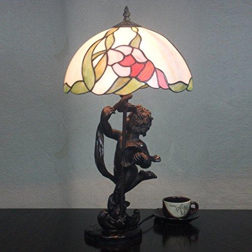12-pouces Vintage Creative fraîches en verre Tiffany Style Lampe de table Lampe de chambre Lampe de chevet