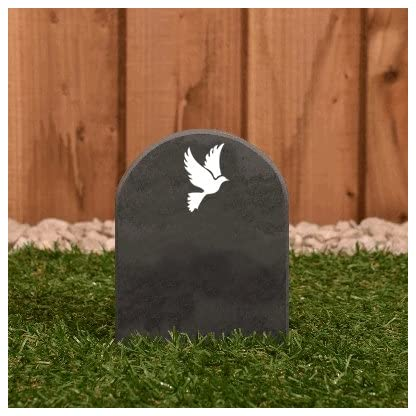 Pet Gravestone personalised with name and motif personalised 6