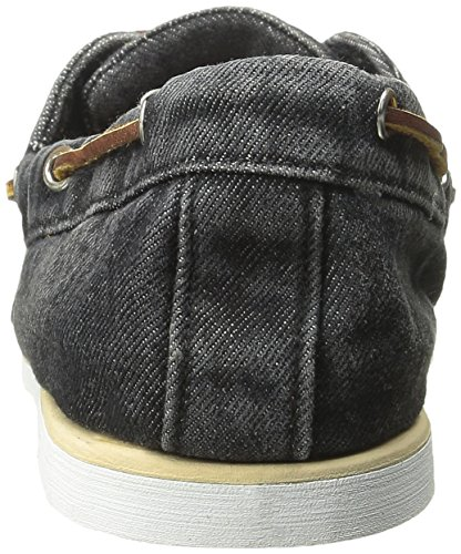 Timberland Men s Icon Classic 2 Eye Denim Oxford  Black Denim  8 W US
