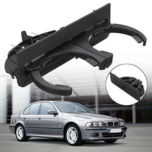 Forspero Black ABS Car Rear Dual Cup Drink Water Holder Mount Clip für BMW 5er E39 51168184520 -