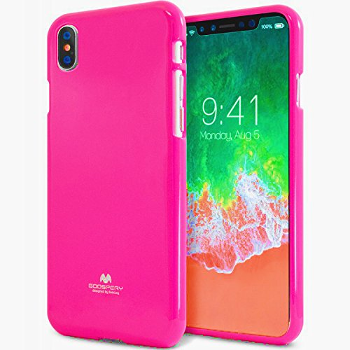 Mooya Fantasie Fluoreszenz 【erstaunlich】 [glänzend] Jelly iPhone XS MAX [Komfortabel] [heiße Farbe] Silky TPU Rubber Case [Dünn und leicht] Cover für (iPhone XS MAX, Rote Rose) (Erstaunliche Fantasie)