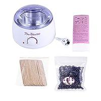 Hair Removal Depilatory Set Wax Heater Wax Bean Warmer Depilatory Paper Hair Removal Stick