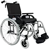 FabaCare Premium Rollstuhl Dolphin 271351 mit Aluminiumrahmen, Leichtgewichtrollstuhl, Alurollstuhl, Sitzbreite 51 cm, bis 150 kg, mit FabaCare Easy To Clean Spezialversiegelung