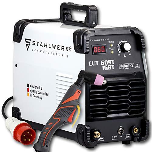 STAHLWERK CUT 60 ST IGBT Plasmaschneider mit 60 Ampere, bis 24mm Schneidleistung, für Lackierte Bleche & Flugrost geeignet, 5 Jahre Herstellergarantie