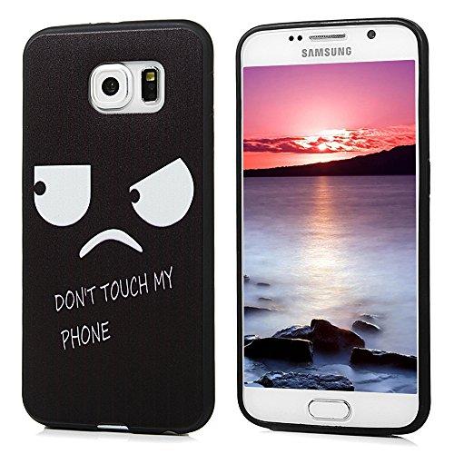 Funda para Samsung Galaxy S6 Funda, YOKIRIN Cover Case Cáscara in TPU pelle Ultra Slim moviles libres pintado Protective Protectora -ojos