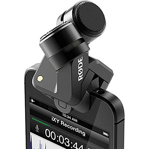 Rode i-XY Microfono per iPhone 5/5S/5C/6/6S, Registrazione a 24bit/96Khz, Argento