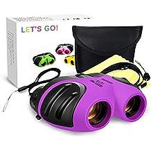 Regalos de Niña Adolescente, DMbaby Binocular Impermeable Compacto Bebé para Niños Juguetes para Niñas de