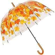 Paraguas Transparente Celebración de la Boda Transparente Cupula Shaped Lampshade seta Paraguas Burbuja Romántica Flores de