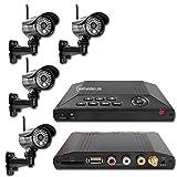 MT Vision HS 401 - Videosystem 4-Kanal Funk Videoüberwachung Überwachungssystem Funküberwachung 4 Kamera