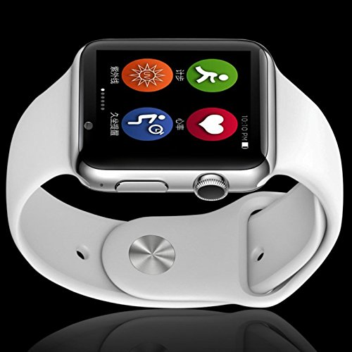 Elv Smart Watch, E LV High Quality Touch Screen Bluetooth Smart Wrist Watch with Camera For Apple iPhone IOS, Android Smartphones Samsung,HTC,Blackberry and more WHITE