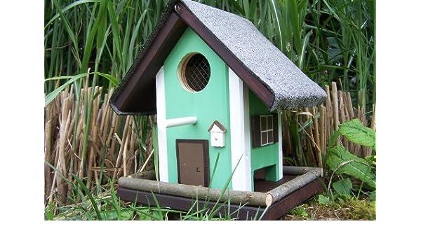 Schwedenhaus grün  Vogelhaus Futterhaus Schwedenhaus grün-weiß: Amazon.de: Haustier