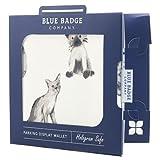 Blue Badge Company - Portafoglio per permesso di parcheggio disabili e disco orario, motivo: gatti