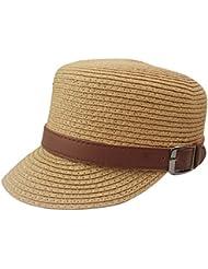 TININNA Unisex sombrero para el sol Fedora Vintage,Moda Sombrero de Paja,Deportes al Aire Libre Algodón Dom Tapa Protectora Benn Sombrero Superior Plana Gorra de Béisbol.