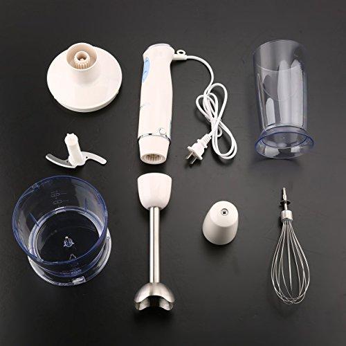 Preisvergleich Produktbild KONKA 600W Hand Mixer Mixer Set Variable 6 Geschwindigkeitssteuerung Küchenmaschine (Farbe: weiß)