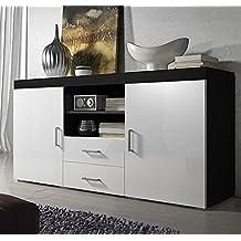 Letti e Mobili – Credenza modello Taby in colore nero con bianco