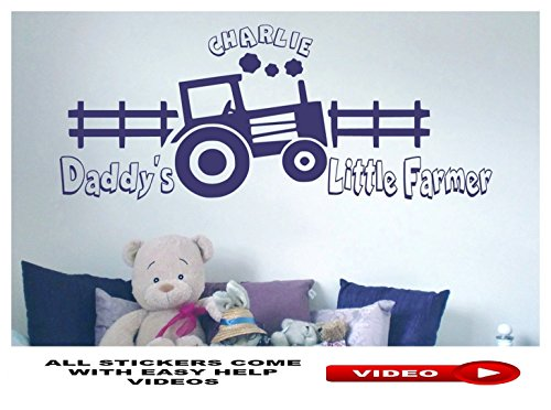 wall-sticker-for-boys-room-personalised-with-name-daddys-little-farmer-tractor-vinyl-decal-art-mural