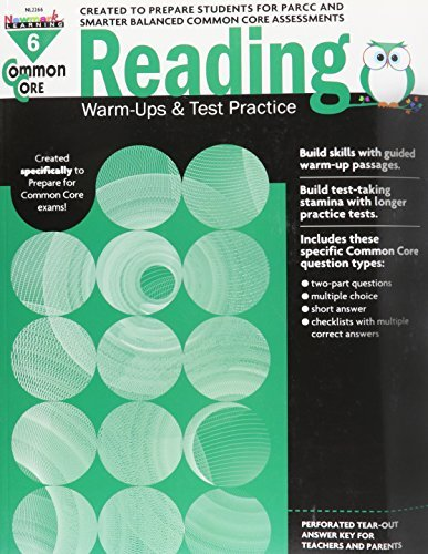 Common Core Reading Warm-Ups and Test Practice Grade 6 by Multiple Authors (2014-10-02)