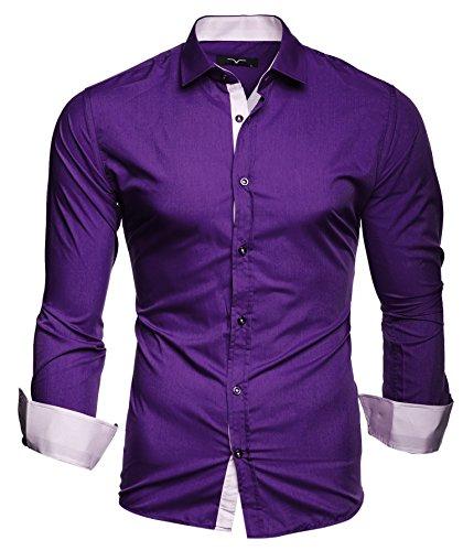 Kayhan Herren Hemd, TwoFace Lila L (Shirt Herren Lila Für)
