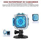 Acouto Mini Kinder Kamera HD 720P 1.77 Zoll 20m Wasserdichte Kamera Camcorder für 3-14 Jahre alte Kinder<br/>