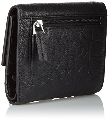 Calvin Klein MISH4 Medium Trifold, Sacchetto Donna, Nero (Black), 14x3x11 cm (b x h x t) Nero (Black)