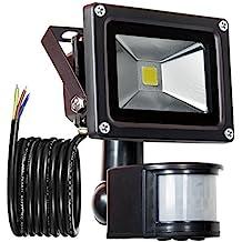 GLW 900lm 10W PIR Sensor de Movimiento LED Luz de Inundación,Exterior IP65 Impermeable Sensor