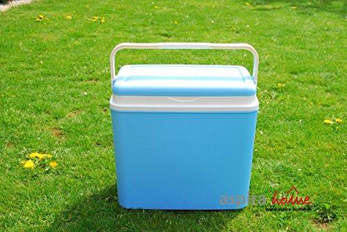 Adriatic Kühlbox 24 Liter Kühltruhe Getränkebox Isolierbox Kühlen Cooler Box Kühltasche (Blau)