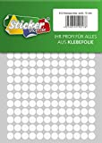 Klebepunkte aus PVC Folie, wetterfest, Markierungspunkte Kreise Punkte Aufkleber (10 mm, weiß)