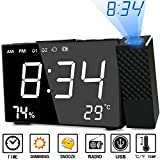 Best Lifetime Alarm Clocks - Projection Alarm Clock Abwei Digital FM Radio Alarm Review