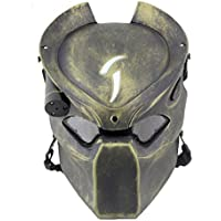 Táctico de Protección Paintball Airsoft Metal malla y Predator CS campo lámpara de infrarrojos, Full Face máscara Worldshopping4U