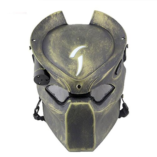 TACTICO DE PROTECCION PAINTBALL AIRSOFT METAL MALLA Y PREDATOR CS CAMPO LAMPARA DE INFRARROJOS  FULL FACE MASCARA WORLDSHOPPING4U