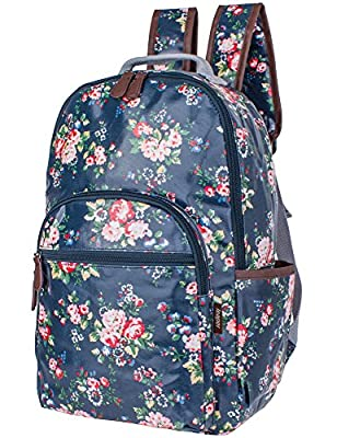 Leaper Childrens Floral School Canvas Backpack Book Laptop Bag Daypack for Girls Rucksack