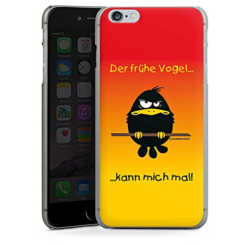 Apple iPhone X Silikon Hülle Case Schutzhülle Der frühe Vogel lustig humor Hard Case anthrazit-klar