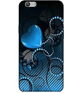 Heart, Blue, Dotted Pattern, Beautiful Pattern, Printed Designer Back Case Cover for Vivo V5 Plus :: V5 Plus Vivo