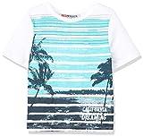 REDWAGON Jungen T-Shirt mit Surfer-Print, Weiß (White), 104 (Herstellergröße: 4 Jahre)